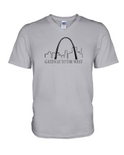 The St Louis Skyline V-Neck T-Shirt thumbnail