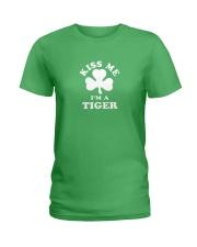 Kiss Me I'm a Tiger Ladies T-Shirt thumbnail