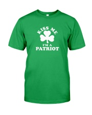 Kiss Me I'm a Patriot Classic T-Shirt front