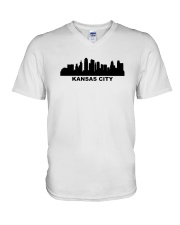 Kansas City Skyline V-Neck T-Shirt thumbnail