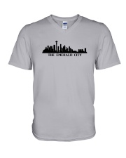 The Seattle Skyline V-Neck T-Shirt tile