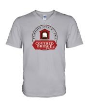 Covered Bridge Trail - Fairfield County Ohio V-Neck T-Shirt thumbnail
