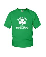 Kiss Me I'm a Bulldog Youth T-Shirt thumbnail