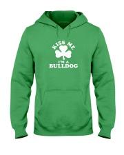 Kiss Me I'm a Bulldog Hooded Sweatshirt thumbnail