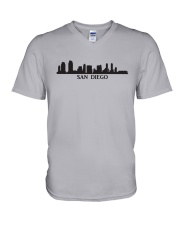 The San Diego Skyline V-Neck T-Shirt thumbnail