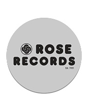 Rose Records Circle Coaster tile