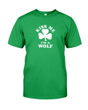 Kiss Me I'm a Wolf Classic T-Shirt front