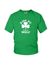 Kiss Me I'm a Wolf Youth T-Shirt thumbnail