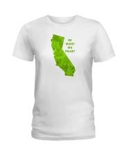 California - In Weed We Trust Ladies T-Shirt thumbnail