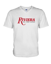 Riviera Hotel and Casino V-Neck T-Shirt tile