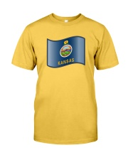 State Flag of Kansas Classic T-Shirt front
