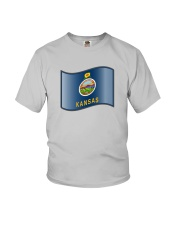 State Flag of Kansas Youth T-Shirt thumbnail