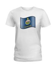State Flag of Kansas Ladies T-Shirt thumbnail