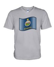 State Flag of Kansas V-Neck T-Shirt thumbnail