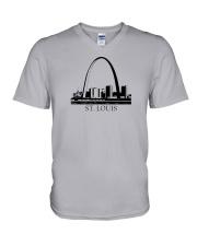 The St Louis Skyline V-Neck T-Shirt thumbnail