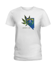 Nevada - Marijuana Freedom Ladies T-Shirt thumbnail
