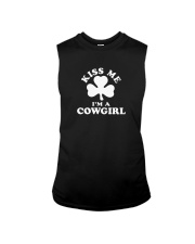 Kiss Me I'm a Cowgirl Sleeveless Tee thumbnail