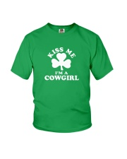 Kiss Me I'm a Cowgirl Youth T-Shirt thumbnail