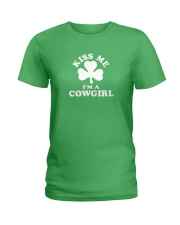 Kiss Me I'm a Cowgirl Ladies T-Shirt thumbnail