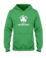 Kiss Me I'm a Mustang Hooded Sweatshirt thumbnail