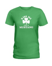 Kiss Me I'm a Mustang Ladies T-Shirt thumbnail