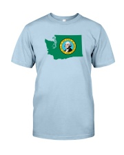 State Flag of Washington Classic T-Shirt front