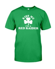 Kiss Me I'm a Red Raider Classic T-Shirt front