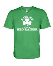 Kiss Me I'm a Red Raider V-Neck T-Shirt thumbnail