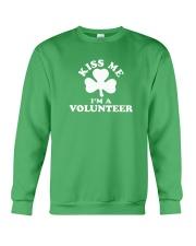 Kiss Me I'm a Volunteer Crewneck Sweatshirt thumbnail