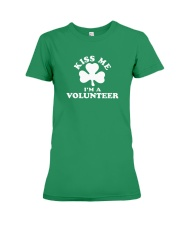 Kiss Me I'm a Volunteer Premium Fit Ladies Tee thumbnail