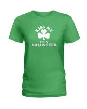 Kiss Me I'm a Volunteer Ladies T-Shirt thumbnail