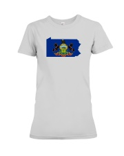 State Flag of Pennsylvania Premium Fit Ladies Tee thumbnail