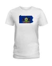State Flag of Pennsylvania Ladies T-Shirt thumbnail