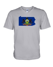 State Flag of Pennsylvania V-Neck T-Shirt thumbnail
