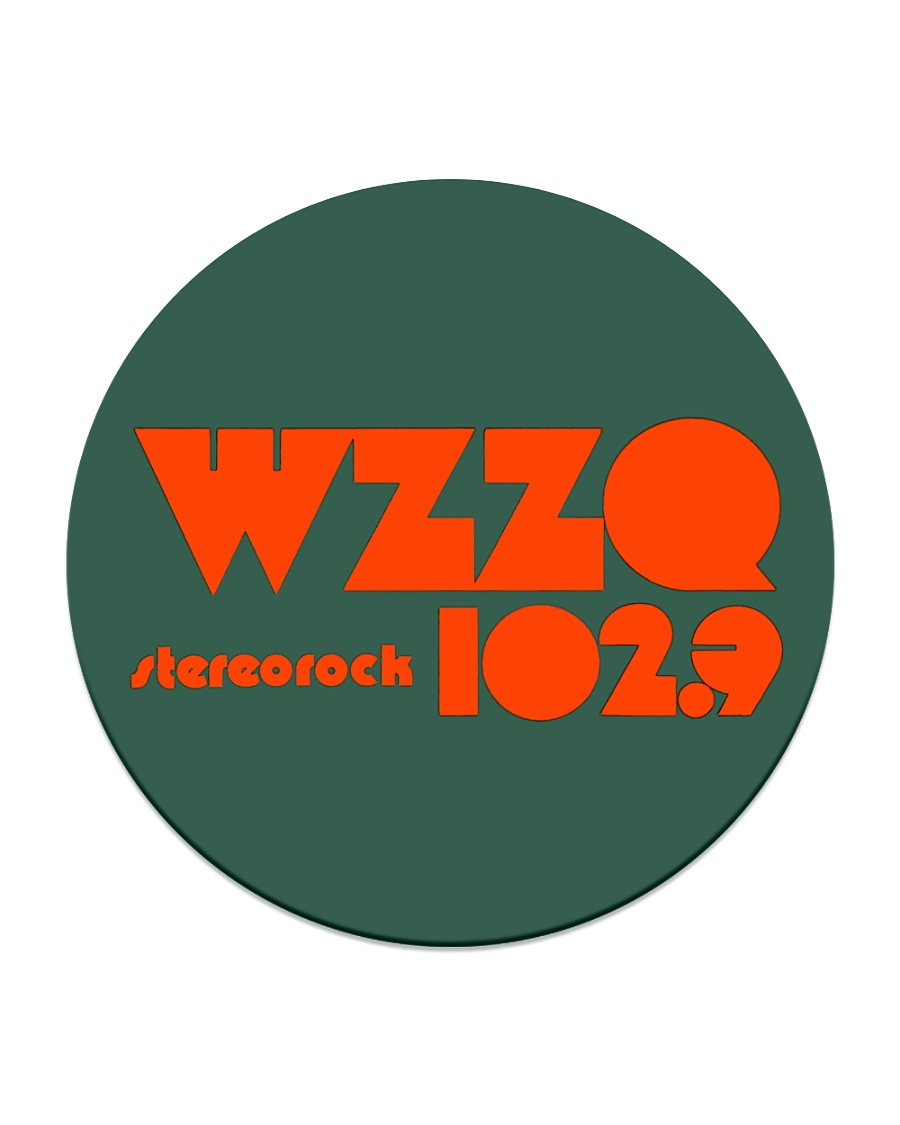WZZQ 102 Stereo Rock Circle Coaster