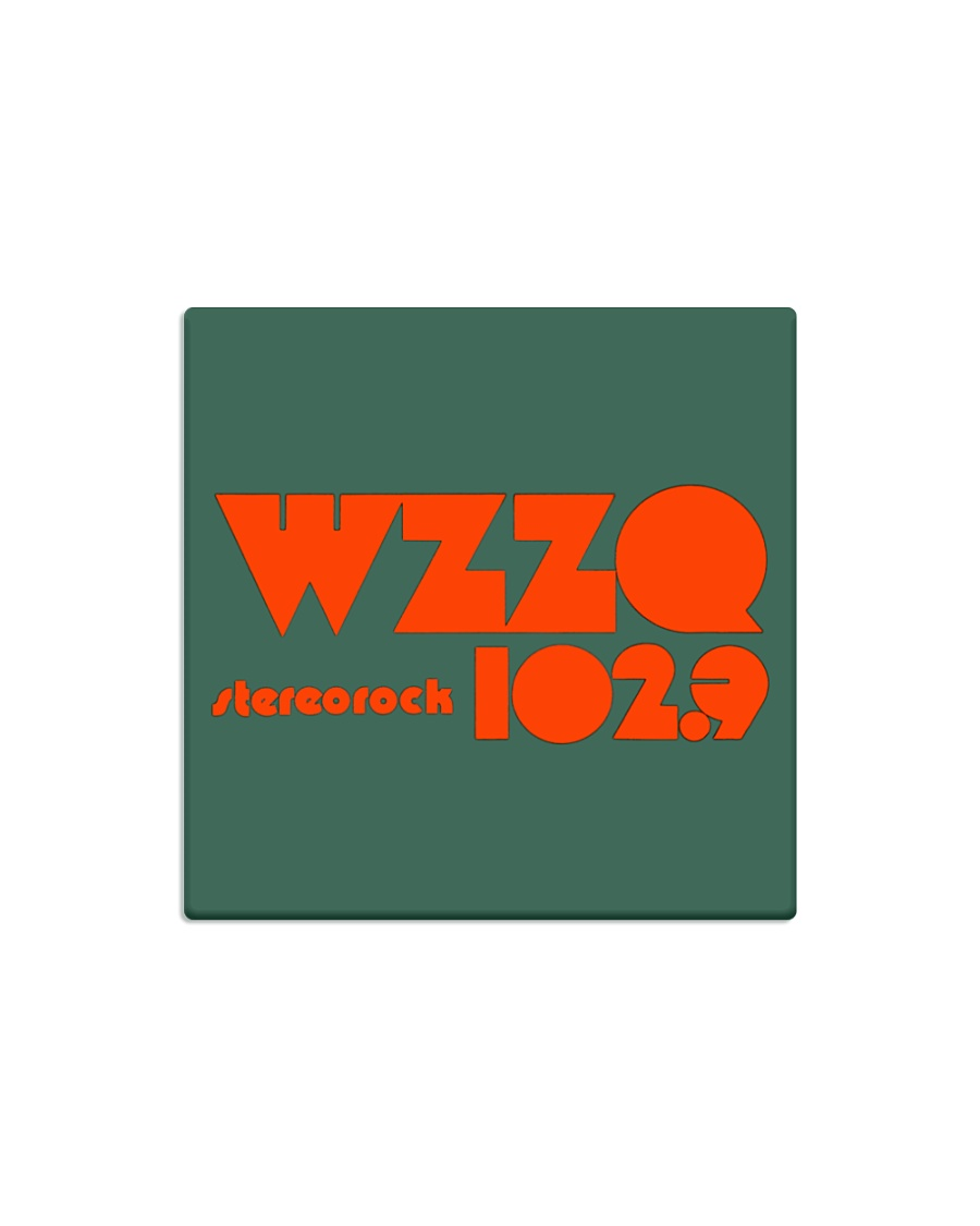 WZZQ 102 Stereo Rock Square Magnet