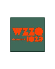 WZZQ 102 Stereo Rock Square Magnet front