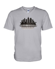The San Diego Skyline V-Neck T-Shirt thumbnail