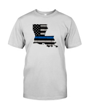 Louisiana - Thin Blue Line Premium Fit Mens Tee thumbnail