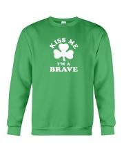 Kiss Me I'm a Brave Crewneck Sweatshirt thumbnail