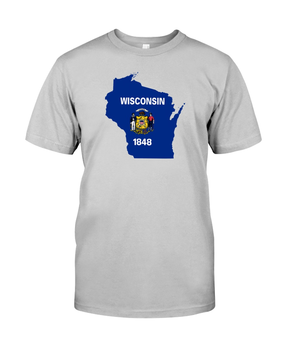 State Flag of Wisconsin Classic T-Shirt