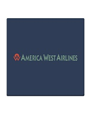 America West Airlines Square Coaster tile