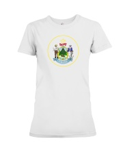 Great Seal of the State of Maine Premium Fit Ladies Tee thumbnail