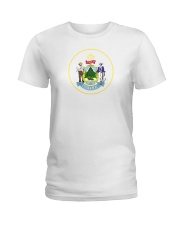 Great Seal of the State of Maine Ladies T-Shirt thumbnail