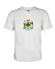 Great Seal of the State of Maine V-Neck T-Shirt thumbnail