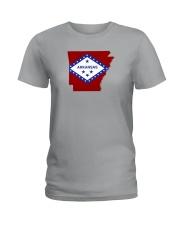 State Flag of Arkansas Ladies T-Shirt thumbnail
