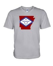 State Flag of Arkansas V-Neck T-Shirt thumbnail
