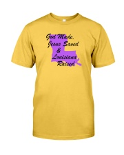 God Made - Jesus Saved - Louisiana Raised Classic T-Shirt thumbnail