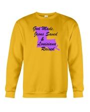 God Made - Jesus Saved - Louisiana Raised Crewneck Sweatshirt thumbnail