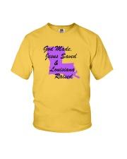 God Made - Jesus Saved - Louisiana Raised Youth T-Shirt thumbnail